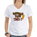 Terrible Twos - Times 2! Women's V-Neck T-Shirt