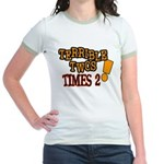 Terrible Twos - Times 2! Jr. Ringer T-Shirt