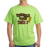 Terrible Twos - Times 2! Green T-Shirt