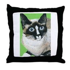 Unique Snowshoe cat Throw Pillow