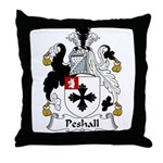 Peshall Family Crest Throw Pillow