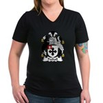 Peshall Family Crest Women's V-Neck Dark T-Shirt