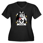 Peshall Family Crest Women's Plus Size V-Neck Dark
