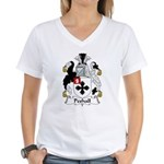 Peshall Family Crest Women's V-Neck T-Shirt