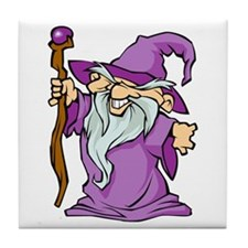 Purple Robed Wizard Tile Coaster