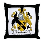 Pembroke Family Crest Throw Pillow