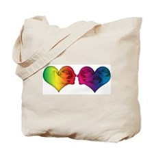 Rainbow love hearts Tote Bag