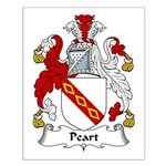 Peart Family Crest Small Poster