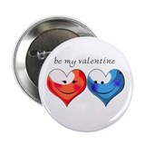 Be my valentine Button