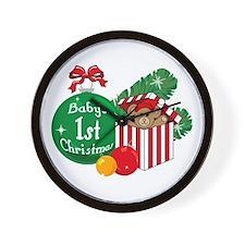 Baby's 1st Christmas Wall Clock