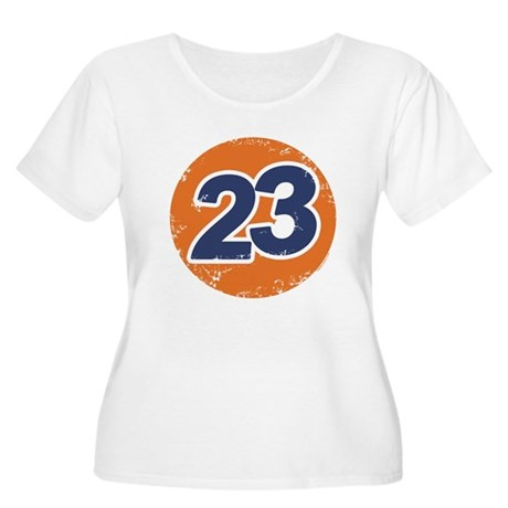 23 Logo Womens Plus Size Scoop Neck Shirt