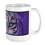 White Tiger Eyes Coffee Mug