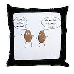 Talking Potatoes Throw Pillow