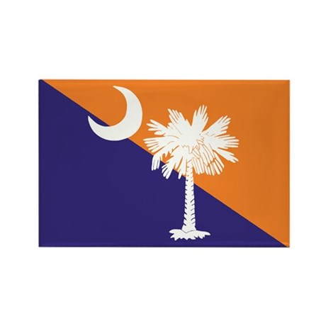 Orange Purple SC Flag Rectangle Magnet (100 pack)