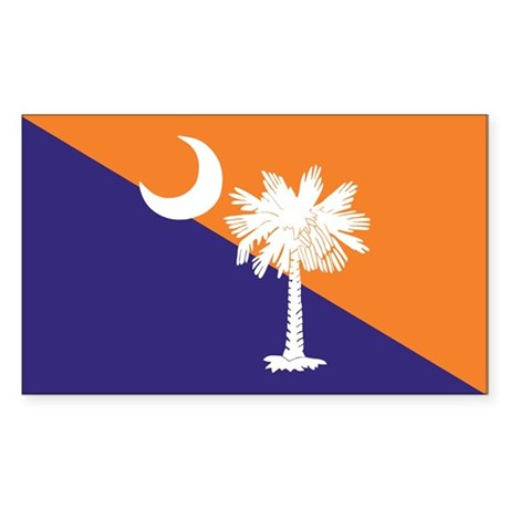 Orange Purple SC Flag Rectangle Sticker