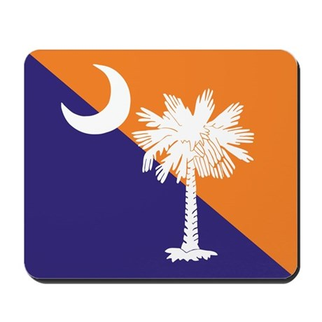 Orange Purple SC Flag Mousepad