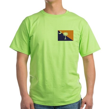 Orange Purple SC Flag Green T-Shirt