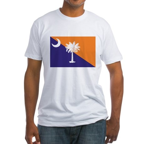 Orange Purple SC Flag Fitted T-Shirt