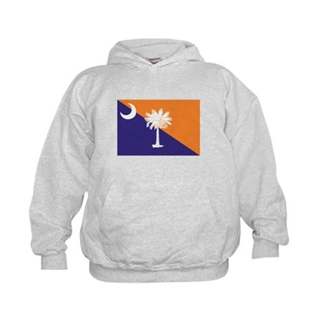 Orange Purple SC Flag Kids Hoodie