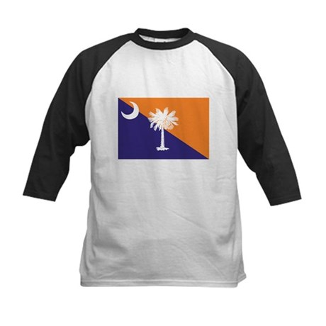 Orange Purple SC Flag Kids Baseball Jersey