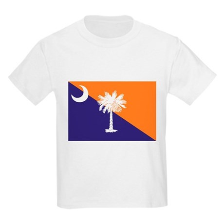 Orange Purple SC Flag Kids Light T-Shirt
