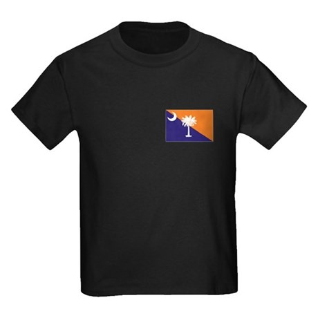 Orange Purple SC Flag Kids Dark T-Shirt