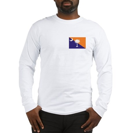 Orange Purple SC Flag Long Sleeve T-Shirt