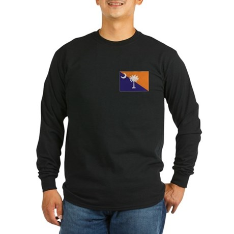 Orange Purple SC Flag Long Sleeve Dark T-Shirt