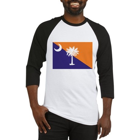 Orange Purple SC Flag Baseball Jersey
