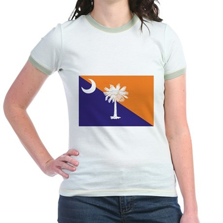 Orange Purple SC Flag Jr. Ringer T-Shirt