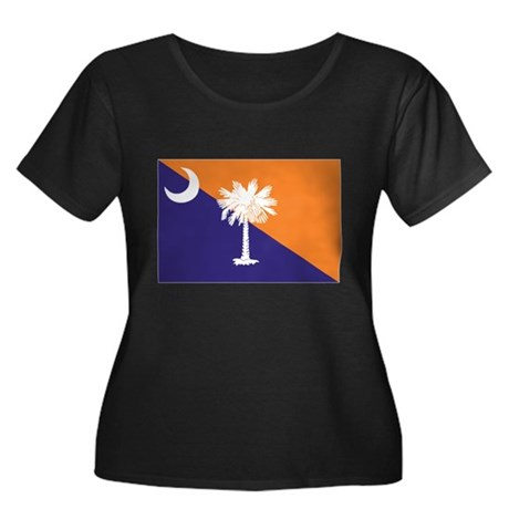 Orange Purple SC Flag Women's Plus Size Scoop Neck
