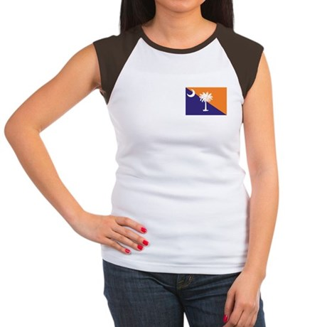 Orange Purple SC Flag Women's Cap Sleeve T-Shirt