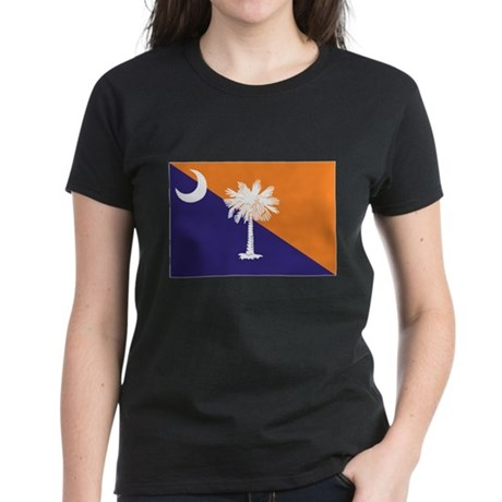 Orange Purple SC Flag Women's Dark T-Shirt