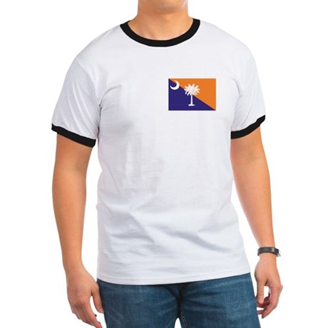 Orange Purple SC Flag Ringer T