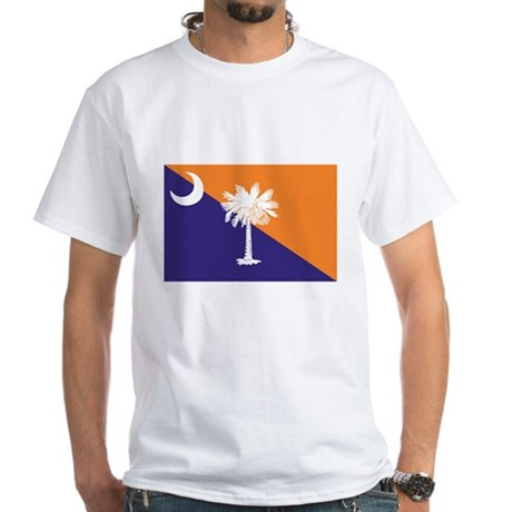 Orange Purple SC Flag White T-Shirt