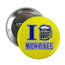"I BEER MILWAUKEE 2.25"" Button (10 pack)"