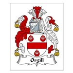 Orgill Family Crest Small Poster