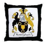 Nottingham Family Crest Throw Pillow