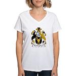 Nottingham Family Crest Women's V-Neck T-Shirt