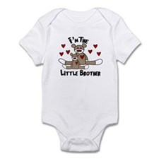 I'm The Little Brother Sock Monkey baby bodysuits