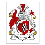 Nightingale Family Crest Small Poster