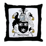 Newman Family Crest Throw Pillow