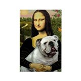Mona &amp; English Bulldog Rectangle Magnet