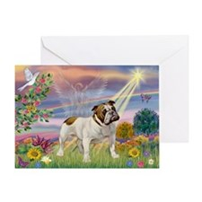 Cloud Angel & English Bulldog Greeting Card