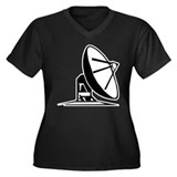 Satelite Women's Plus Size V-Neck Dark T-Shirt