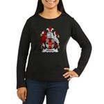 Moyes Family Crest Women's Long Sleeve Dark T-Shir