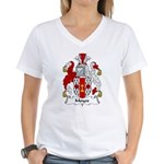 Moyes Family Crest Women's V-Neck T-Shirt