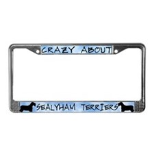 Crazy About Sealyham Terriers License Plate Frame