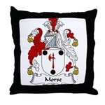Morse Family Crest Throw Pillow