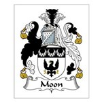 Moon Family Crest Small Poster